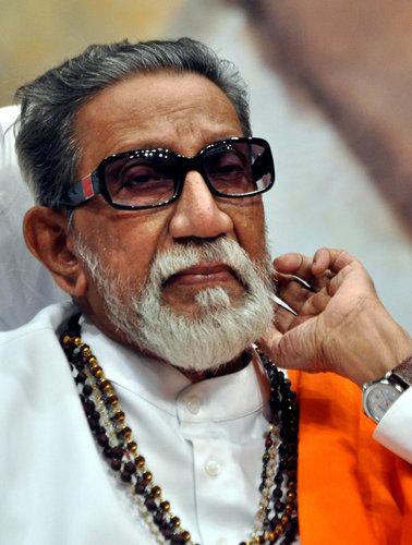 A file picture Shiv Sena supremo Balasaheb Thackeray.