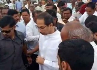 Uddhav Thackeray meets farmers in Satara