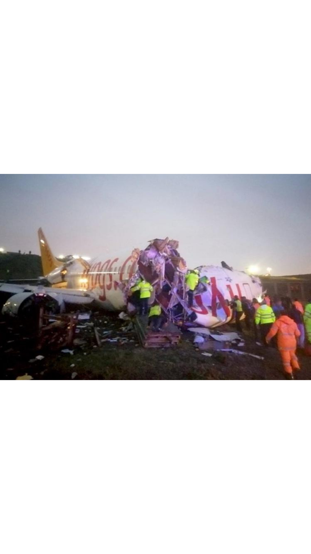 Three dead, 179 injured as plane skids off Istanbul airport runway, splits into three ...