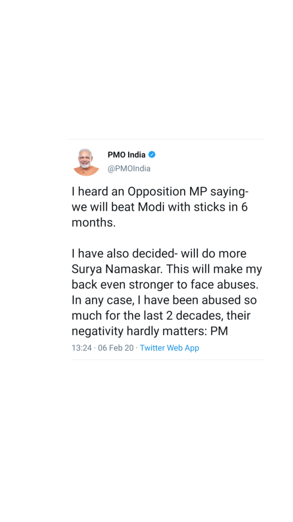 PM's befitting reply...