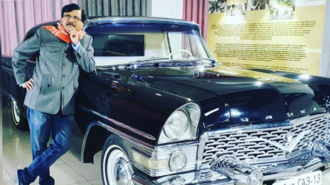 Shiv Sena's firebrand leader Sanjay Raut in top gear in Uzbekistan...