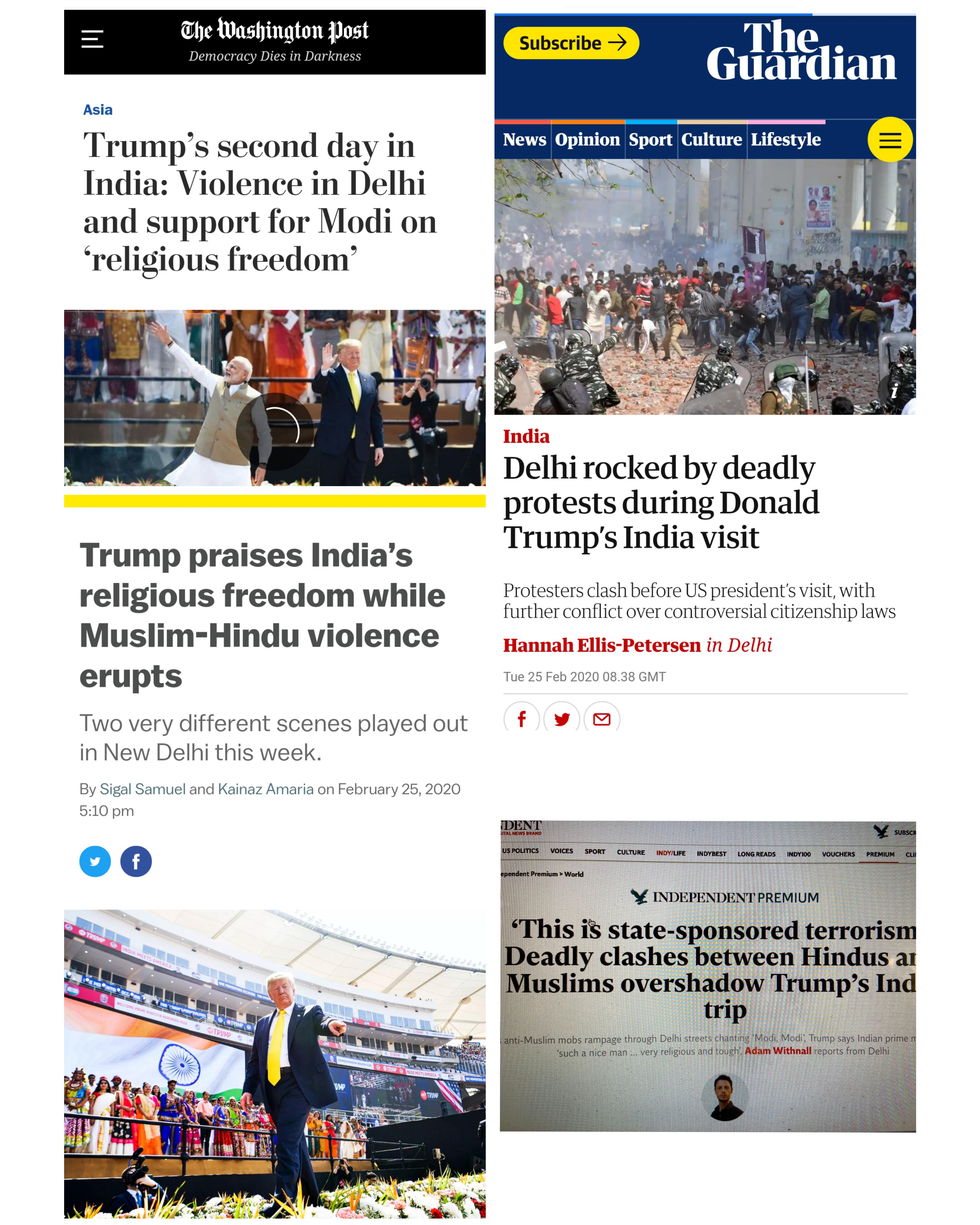 Trump hits headlines...