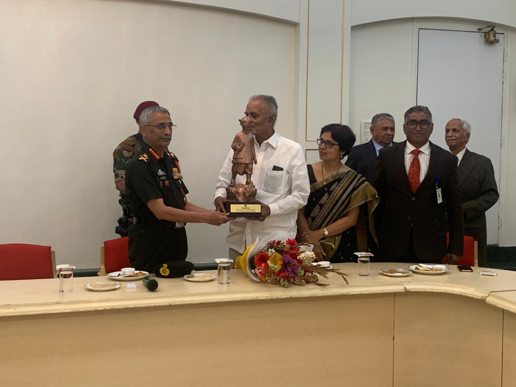 Felicitation of General Manoj Naravane, Chief of the Army Staff at Symbiosis .