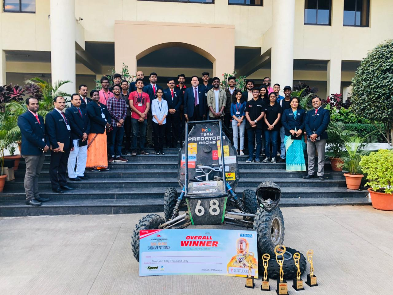 D Y Patil Engineering College, Akurdi students win acclaim for unique vehicle