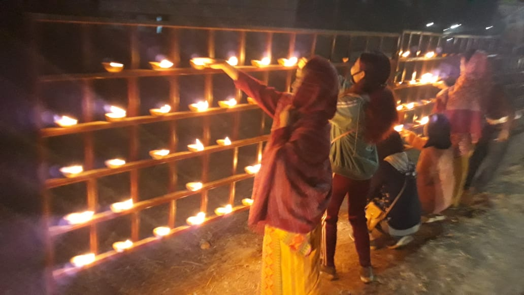On the eve of PM Shri Narendra Modi's visit, citizens lightening thousands of earthen lamps across Kokrajhar city in celebration of the historic Bodo accord.