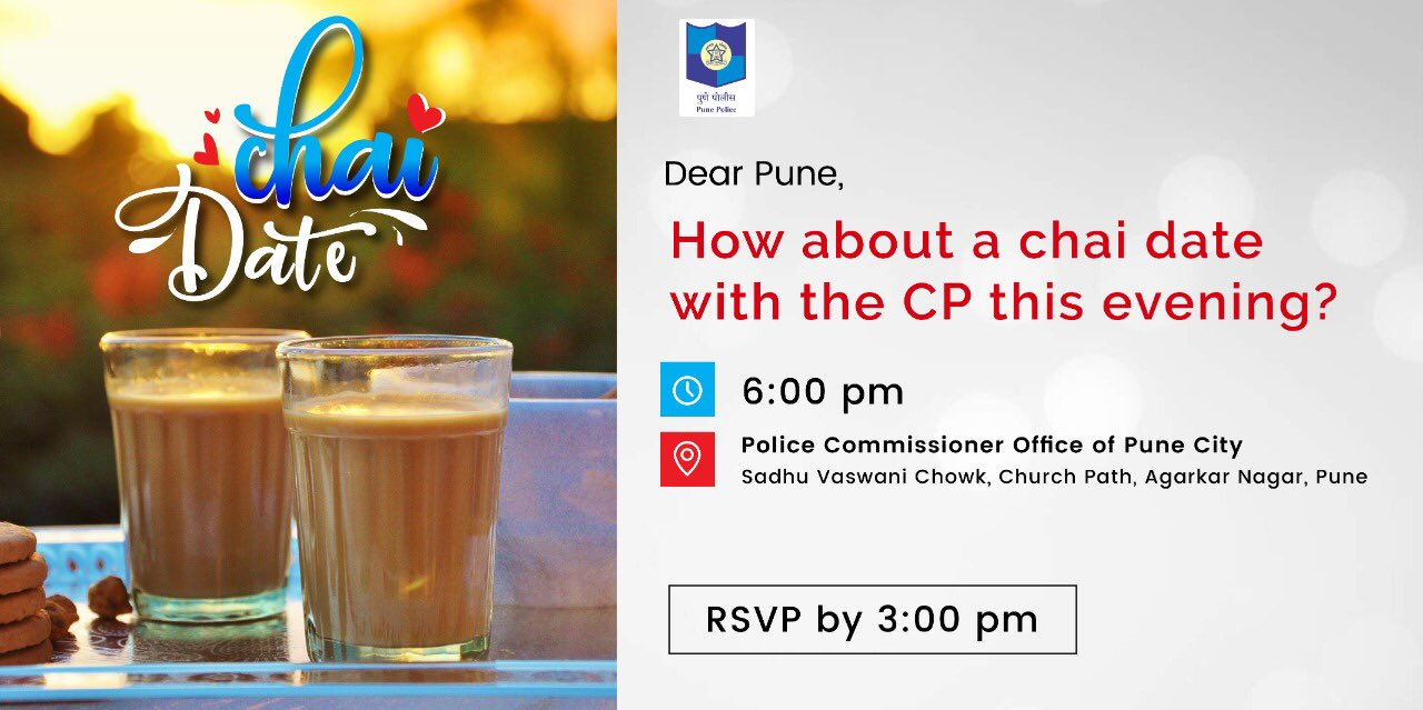 Oh wow, Let's go for chai with Pune police chief...