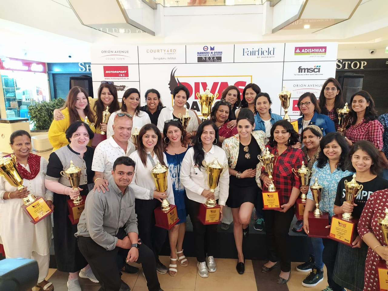 Women's Car Rally organised by Orion Avenue Mall to mark International Women's Day.