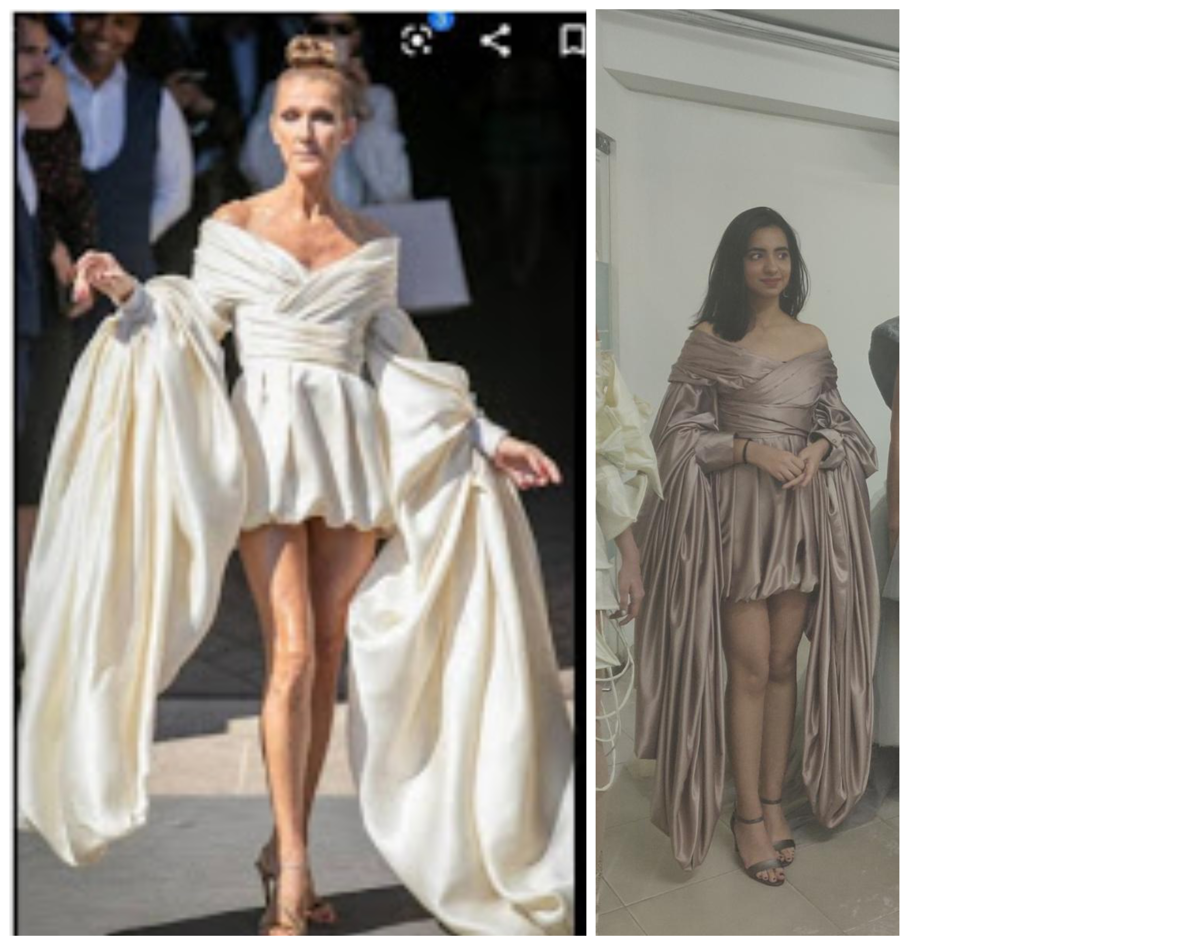 5 students of LISAA design Celine Dion's Red Carpet dress replica...
