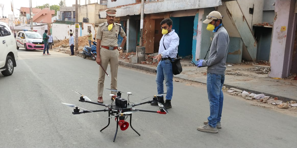 Indian Institute of Science helps BBMP to disinfect congested areas using drones