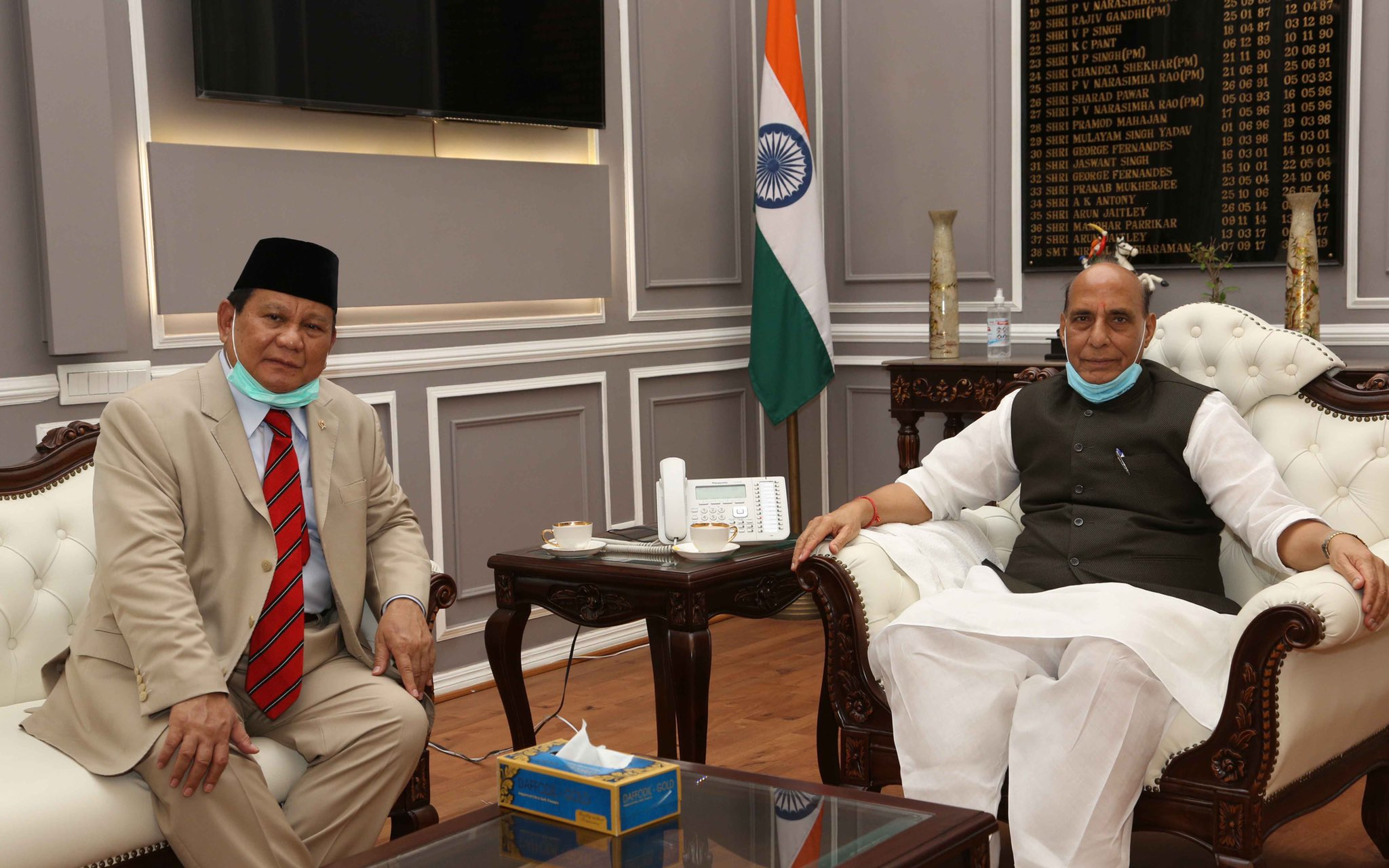 Defence Minister of Republic of Indonesia, General Prabowo Subianto visits India.