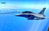 Few shots from 30,000 feet! Mid air refueling of Rafale Jets on their way to India..