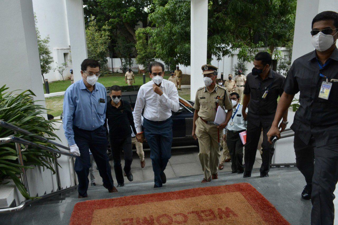 CM Uddhav Thackeray  arrives in Pune district -19...