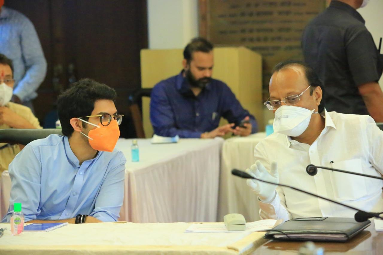 Pune: Review meeting chaired by CM Uddhav Thackeray , in the presence of Deputy CM Ajit Pawar...