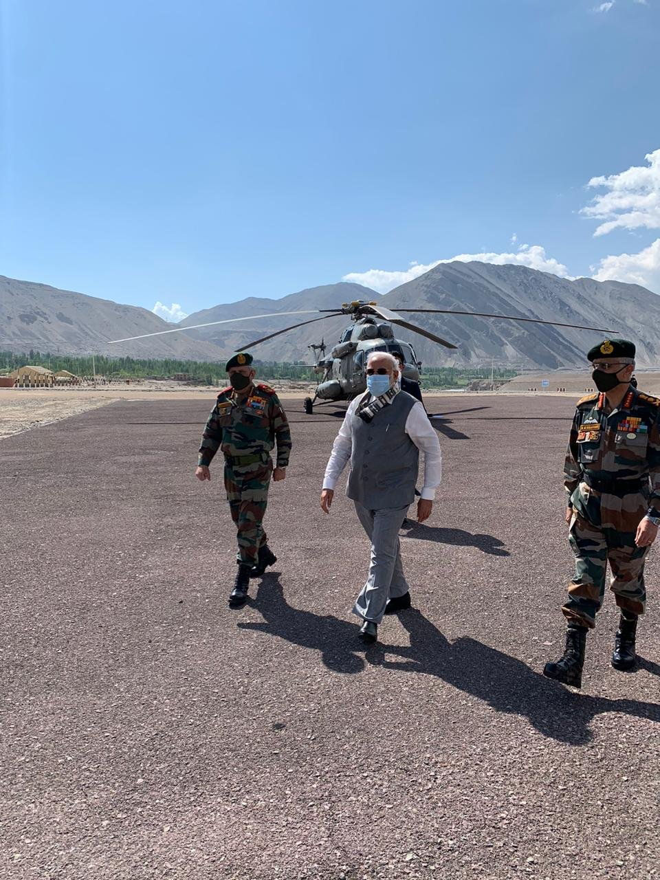 Prime Minister  Narendra Modi in Ladakh to meet our jawans...