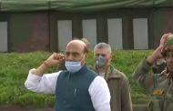 Jo Bole So Nihal : Raksha Mantri Rajnath Singh with troops  during his visit near the LoC in Jammu & Kashmir,earlier today.