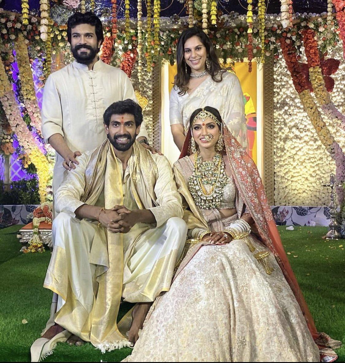 Baahubali actor Rana Daggubati married Miheeka Bajaj in Hyderabad on Saturday...