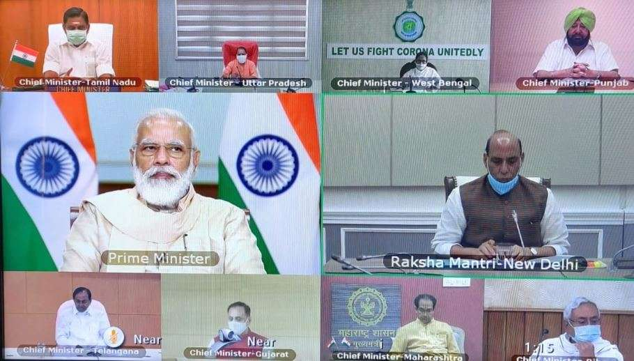 PM interacts with CMs to discuss the current situation and plan ahead for tackling the pandemic...