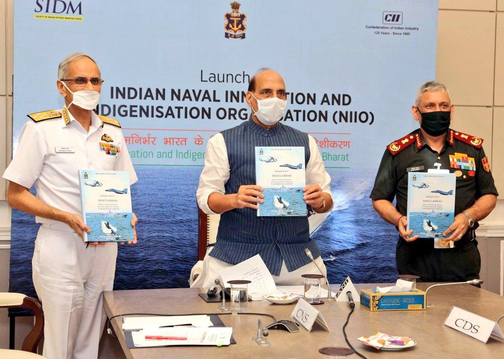 Raksha Mantri Shri Rajnath Singh Launches Naval Innovation and Indigenisation Organisation (NIIO)