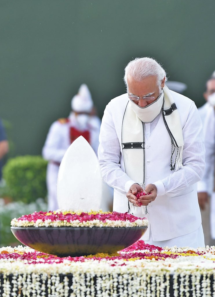 PM Narendra Modi : Paid tributes to respected Atal Ji at Sadaiv Atal this morning...