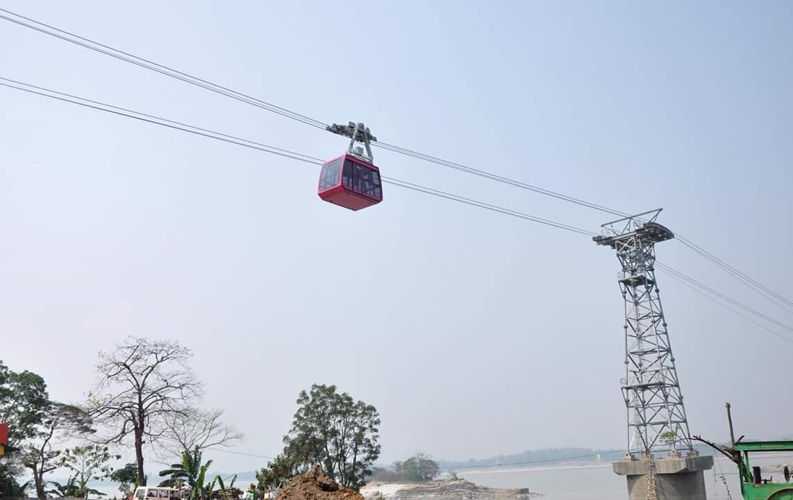 India's longest ropeway service from Guwahati to North Guwahati over river Brahmaputra, to be opened; the ropeway covers 2km from South Bank to North Bank.
