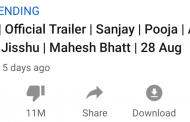 'Sadak 2' Trailer Becomes The Third Most Disliked Video In The World With 11MN Dislikes ...
