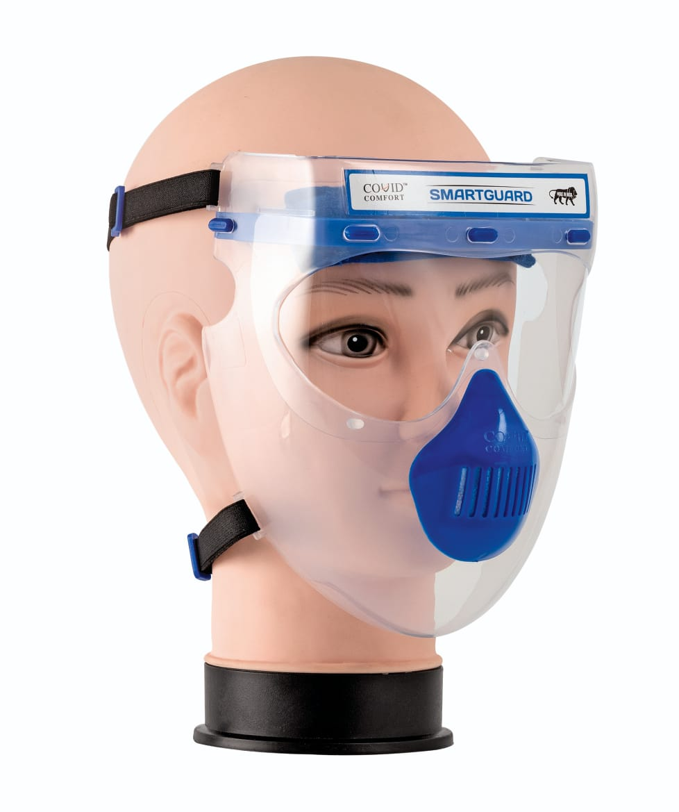 Smart faceshields offer strong protection against Covid