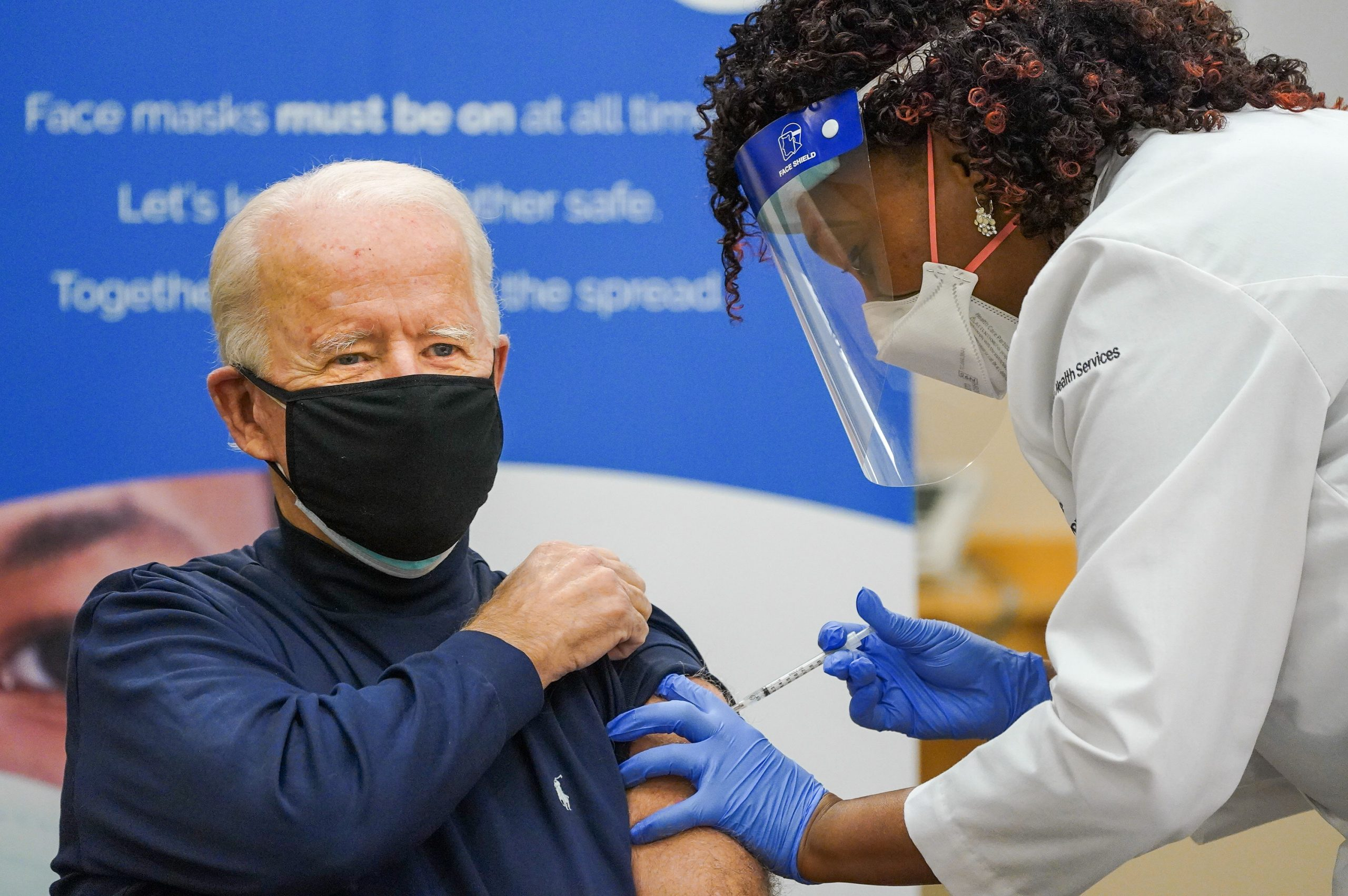 US president- elect Joe Biden: Today, I received the COVID-19 vaccine. To the scientists and researchers who worked tirelessly to make this possible — thank you. We owe you an awful lot. And to the American people — know there is nothing to worry about. When the vaccine is available, I urge you to take it.