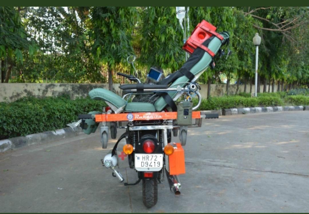 DRDO hands over Motor Bike Ambulance 'Rakshita' to CRPF...