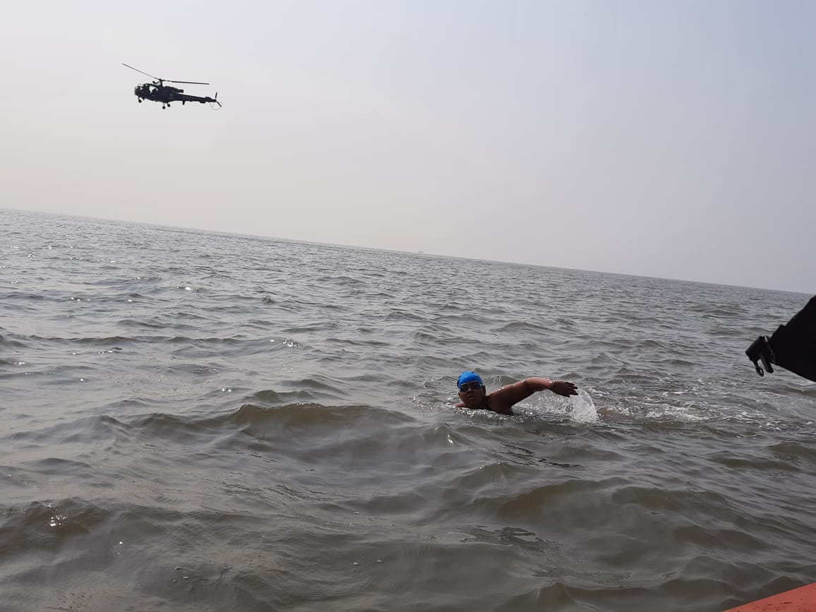 Jiya Rai, a 12 years old naval child, Swims 36 kilometers to create awareness about Autism Spectrum Disorder...