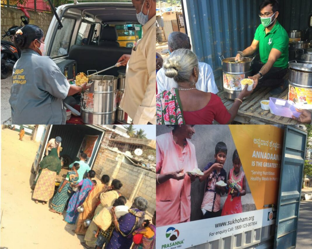 Community Kitchen Nirguna Mandir serves food to Covid patients and their families