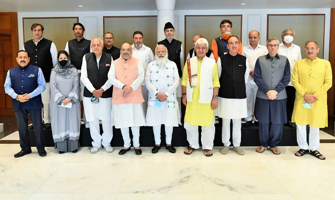 Today's meeting with political leaders from Jammu and Kashmir is an important step in the ongoing efforts towards a developed and progressive J&K, where all-round growth is furthered : PM Modi