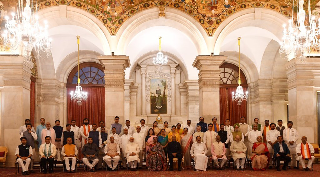 The President of India, as advised by the Prime Minister, has directed the allocation of portfolios among the following members of the Council of Ministers ...
