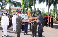 Swarnim Vijay Varsh Victory Flame received by Andaman and Nicobar Command...