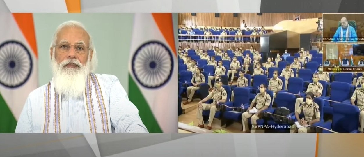 PM interacts with IPS probationers at Sardar Vallabhbhai Patel National Police Academy...