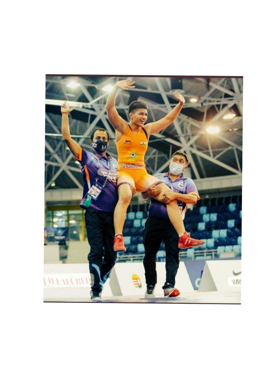 Congratulations Priya Malik for bagging GOLD in the 73 kg category of the World Cadet #Wrestling Championship in Budapest, Hungary. 🥇