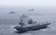 INDIAN NAVY EXERCISES WITH ROYAL NAVY CARRIER STRIKE GROUP...
