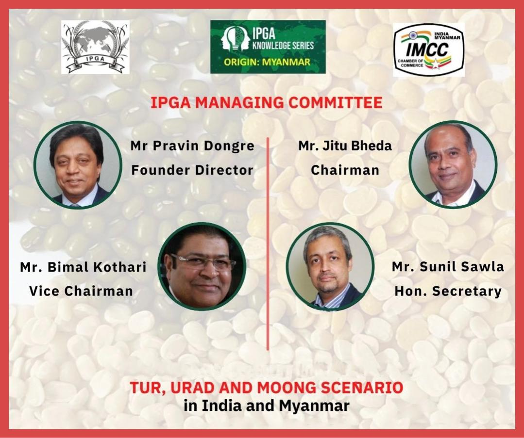 India Pulses and Grains Association and India Myanmar Chamber of Commerce jointly presented a Webinar