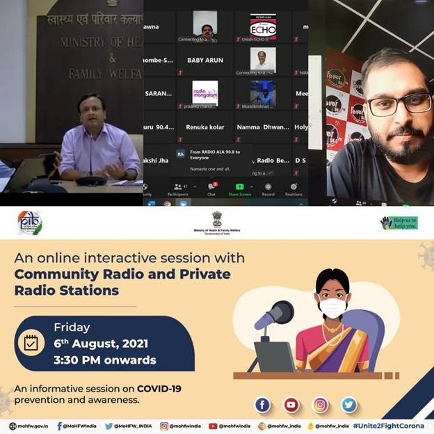 Union Health Ministry organizes an Interactive Workshop with Community Radio Stations and Private Radio Stations from Southern States...