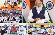 PM Interacts with the beneficiaries of Pradhan Mantri Garib Kalyan Anna Yojana (PMGKAY) in Madhya Pradesh...