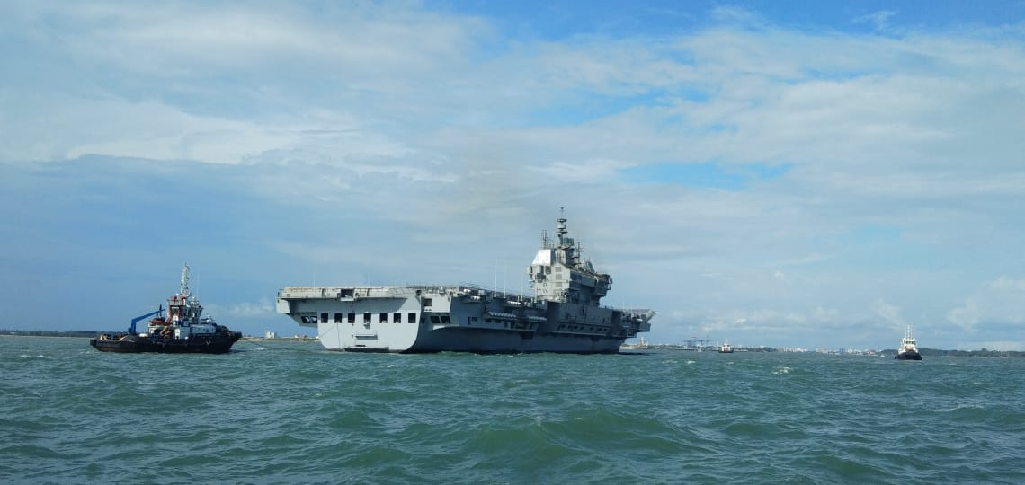 INDIGENOUS AIRCRAFT CARRIER (IAC(P71)) 'VIKRANT' RETURNS AFTER SUCCESSFUL MAIDEN SEA VOYAGE...