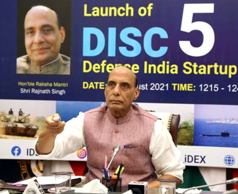 Raksha Mantri Shri Rajnath Singh launches Defence India Startup Challenge 5.0...