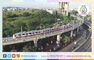 Pune Metro trial run with cycles on board conducted between Sant Tukaram Nagar station and Phugewadi station...
