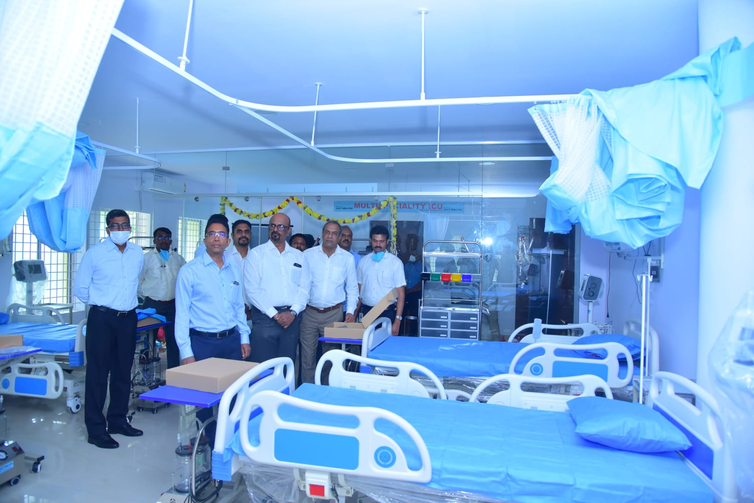 10-bed ICU facility in AnekalGovt Hospital set up by AGI MILLTEC inaugurated...