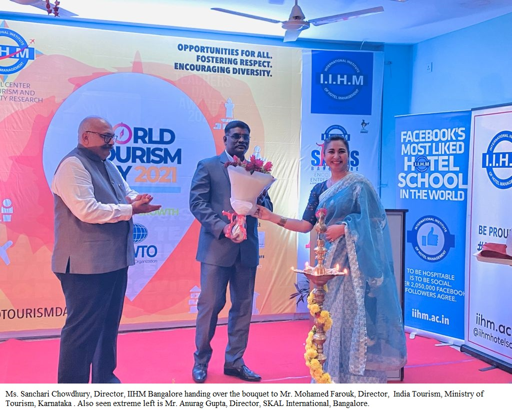 IIHM students celebrate the 'bounce back' of tourism, hospitality industry on World Tourism Day with special cuisines, cultural performances..
