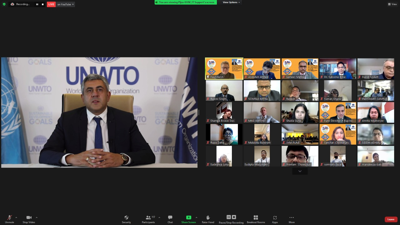 UNWTO Secy-General virtually inaugurates IIHM Global Centre for Tourism and Hospitality Research